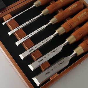 [NAREX] 나렉스 우드라인 플러스 평끌 6P 세트/Set of bevel edge chisels PREMIUM in wooden box/8532 (6,10,12,16,20,26mm)